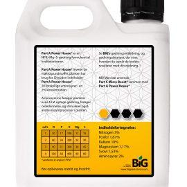 BiG Plant Science gødning Part A Powerhouse 1 L bagside