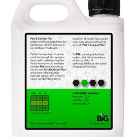 BiG Plant Science gødning Part B Calsium Plus 1 L bagside